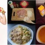 Morkvova polyvka, Segedyňskŷj guľaš i Alc´hajmer