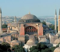 Hagia Sofia v Istanbuľi bŷla christiaňska bazylika