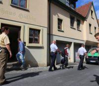 В затискуючім таборі про жадателів о азіл в баворскім місті Швайнфурт засягувала німецька поліція