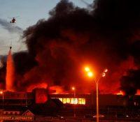 В найбівшім московскім накупнім центрі взникнув пожар