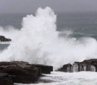 Тайфун Лан в Японії обмежыв жывот обывателів