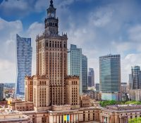 У Варшаві одбыв ся великый протестный похід