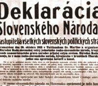 В Мартіні святкованя сторічніці підписаня декларації