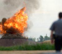 В ракетовім армаднім складї в США ся став выбух