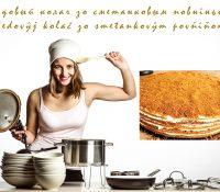 Medovŷj kolač zo smetankovŷm povňiňom