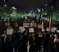 В Прагі одбыли ся демонштрації против Бабішові