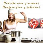 Mangova pena z jahodami