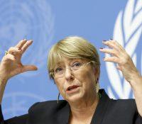 Бахелетова остерігала перед порушованьом людьскых прав