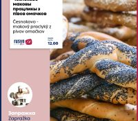 Česnokovo – makovŷ praclykŷ z pivov omačkov