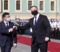 Дуда одкрыв памятник співоснователькы Солідарности в Києві