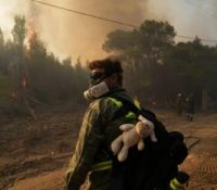 В Ґреції розгоріли ся два новы пожары